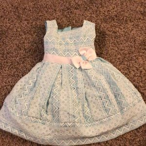 Teal dress girls 18M